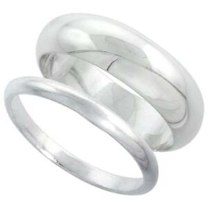 Sterling Silver Plain Band Comfort Fit Ring Solid 925 $5.99