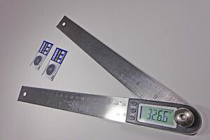 Digital Electronic Miter Angle Finder Protractor Rule 11quot; $19.99