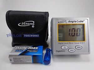 iGaging Angle Cube Digital Angle Protractor Gauge $28.99
