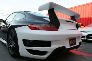 Porsche 997 GT Trunk Spoiler Wing for 997 Turbo Coupe & Cabriolet 2007 to 2012