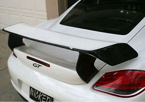 Porsche Cayman TA GT Rear Trunk Wing Spoiler w Adjustable Carbon Fiber Blade