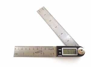 7quot; Electronic Digital Protractor Goniometer Angle Finder Miter Gauge iGaging $18.99