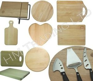 WOOD WOODEN ROUND RECTANGULAR BOARD ROLL CUTTING CHOPPING DICING KITCHEN FOOD