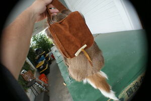 Whitetail deer hair-out possibles bag hand made simple purse rendezvous pow wow