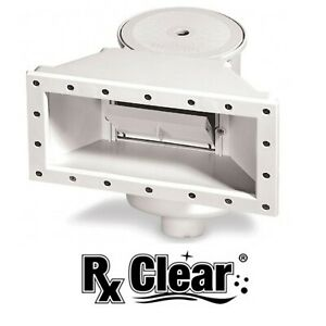 Rx Clear WideMouth Thru Wall Skimmer for Above Ground Swimming Pools