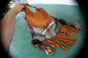 Silver fox Possibles bagpursepouch our design unique item rendezvous pow wow