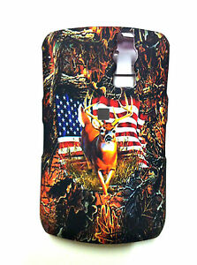 BLACKBERRY CURVE 8300 8320 CAMOUFLAGE WITH AMERICAN FLAG COVER NEW
