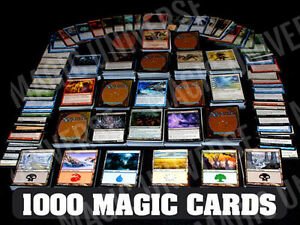 1000 Magic the Gathering Cards Lot With 100 Lands MTG Includes Foils amp; Rares