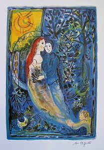 MARC CHAGALL quot;WEDDINGquot; Limited Edition Facsimile Signed Lithograph Art $59.99
