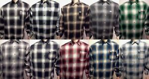 CAL TOP Casual SHIRT LONG SLEEVE 100% Acrylic Button Front Old School Flannel $28.99