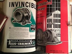 ~Rare Jazz Age Industrial Power Magazine in Hardbound 15 Vol.'s Over 9000 Pages!