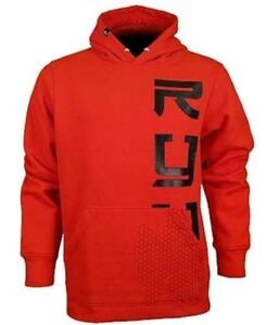RYU Respect Your Universe Peaks Valleys Red Black Pullover Hoodie MMA NEW Mens L