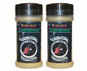Jalapeño Chili Pepper Powder Hot Spice Gift Set Amigo Seasoning 2 Spices