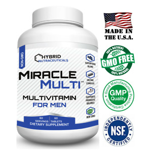 Multivitamin Mineral for Men, Best High Potency Mens Vitamin, Non GMO Supplement