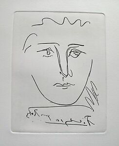 Pablo Picasso POUR ROBY Etching Signed in the Plate Comes with Certiticate $99.99