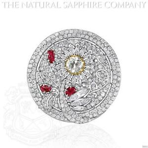Ruby Brooch (J4901)