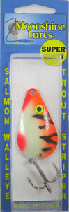 MOONSHINE LURES GLOW IN THE DARK CASTING SPOON 3 4 OZ. TANGERINE TIGER