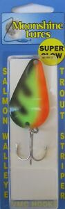 MOONSHINE LURES GLOW IN THE DARK CASTING SPOON 3 4 OZ. GLOW PERCH