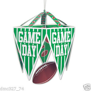 FOOTBALL Tailgate Game Day Superbowl Party Decoration PENNANT CHANDELIER
