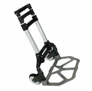 COMPACT FOLDING ALUMINIUM HAND TRUCK TROLLEY LUGGAGE CART FOLDABLE DOLLY PUSH $36.99