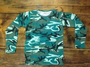 LOT of 24 New kids Long Sleeved Camouflage shirts 95% cotton 5% Spandex Size 6