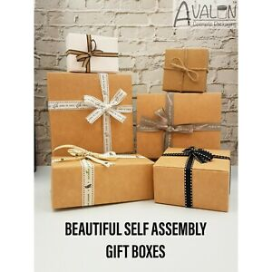 Gift Boxes Flat Pack Box for Gifts JewellerySoap Empty Gift Box Cartons UK!