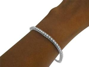 VS1 E Tennis Bracelet 1.50 Ct Round Cut Diamond 14Kt Solid White Gold Prong Set