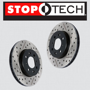 FRONT LEFT RIGHT STOPTECH SportStop Drilled Slotted Brake Rotors STF58001 $333.11