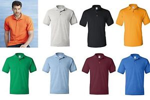 Gildan DryBlend Jersey Mens Polo Sport Shirt 21 Colors Sizes S-5XL  Unisex 8800