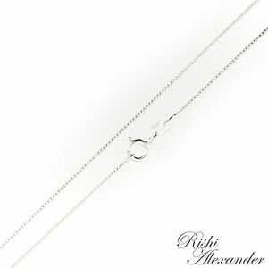 Sterling Silver BOX Chain Necklace Thin .7mm 012 Gauge 925 Italy Italian Jewelry $4.29