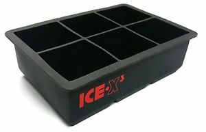 CUBED ICE Maker Large Cube Square Tray Molds Whiskey Ball Cocktails Silicone Big