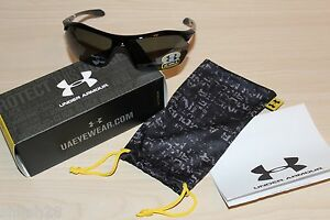 Under Armour UA Zone XL Polarized Sunglasses Black Multiflection Lens Sport Golf