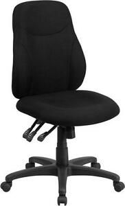 MID BACK BLACK FABRIC MULTI FUNCTIONAL ERGONOMIC CHAIR