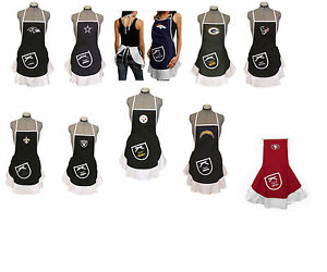 hostess apron bbq tailgating NFL PICK YOUR TEAM tailgate barbecue party kitchen