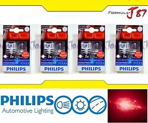 Philips X-Treme Vision LED 1157 S25 BAY15d Rouge Red 4.3 W Eight Bulbs Replace