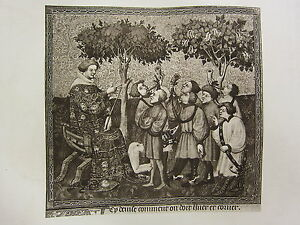 ANTIQUE HUNTING PRINT THE MASTER INSTRUCTING HIS HUNTERS HOW TO BLOW THE HORN