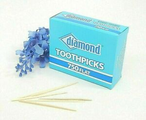 Diamond Brand Flat Wood Toothpicks, Bar, Restaurant, Party Supplies, Oral Care