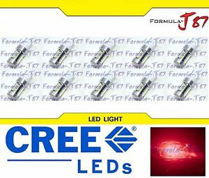 CREE LED Miniature 80W 7440 T20 Red Ten Bulbs Replacement Light Lamp Upgrade JDM