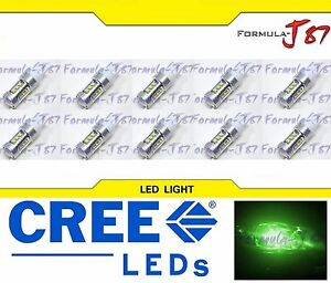 CREE LED Miniature 80W 7443 T20 Green Ten Bulbs Replacement Light Lamp Upgrade
