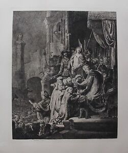 REMBRANDT quot;CHRIST BEFORE PILATEquot; Amand Durand Plate Signed Art Etching $349.99