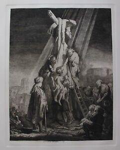 REMBRANDT quot;THE DESCENT FROM THE CROSSquot; Amand Durand Plate Signed Etching Art $349.99