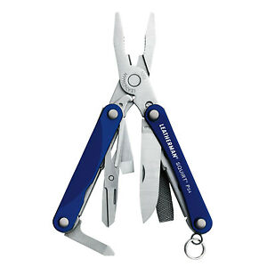 Leatherman 831192 Squirt PS4 Blue Keychain Multi-Tool Pocket Knife with Plier