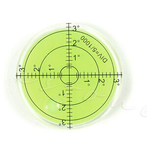 New 66*10mm Spirit Bubble Degree Mark Surface Level Round For Measuring Tool