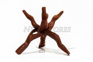 Carved Tripod Wood Stand Holder 8
