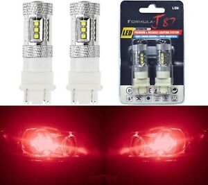 CREE LED Miniature 80W 3157 T25 Red Ten Bulbs Replacement Light Lamp Upgrade JDM