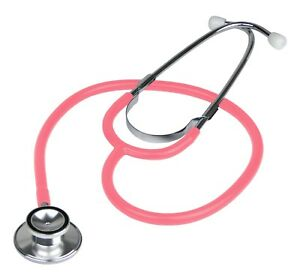 Brand New Double Dual Head Pink Stethoscope In Box $5.95