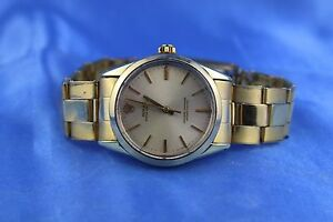 Rolex Oyster Perpetual Gold Cap Mens Watch Ref:1024 On Oyster Bracelet RARE