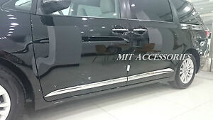 For Toyota SIENNA 2011-2020 ABS outside door body side molding chrome trim 3M