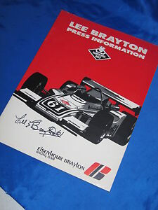 Indy 500 1974 LEE BRAYTON HAND SIGNED Vintage Racing Press Kit