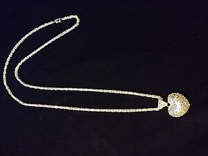 Long Handmade 40 Inches Silver Necklace (Please read description)